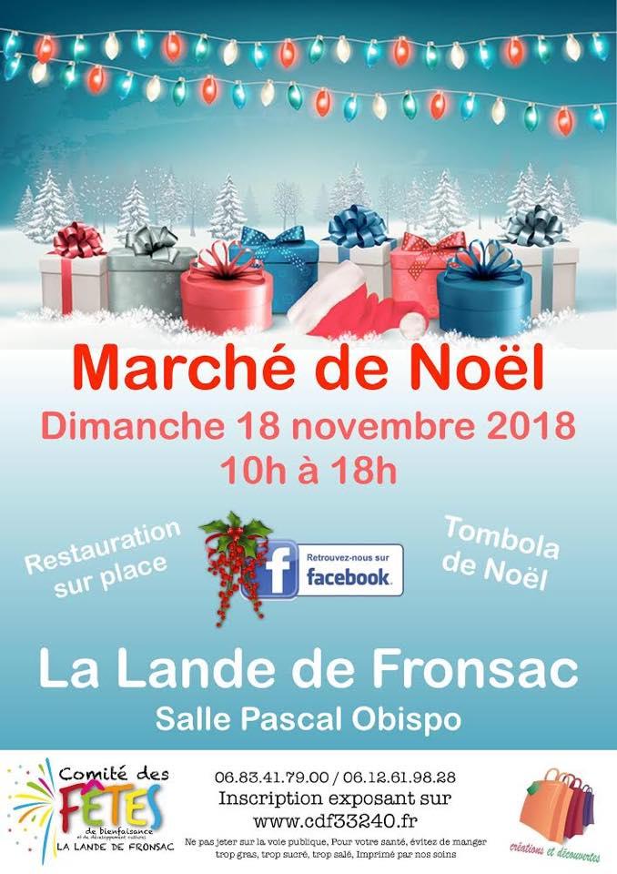 Marché de Noël 18 novembre 2018 - La Lande de Fronsac - Gironde - Participation de Nénuph'Arts