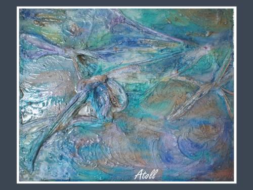 Atoll - Dentelle de Béton par Nénuph'Arts - Gironde - Art - Boutique - Peinture