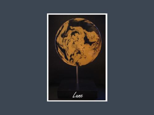 Lune - Fluid painting par Nénuph'Arts - Gironde - Art - Boutique - Sculpture