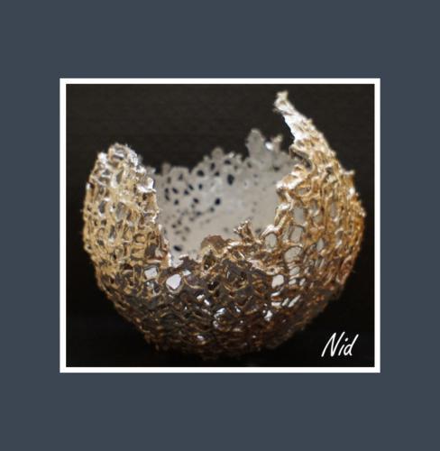 Nid - Dentelle de Béton par Nénuph'Arts - Gironde - Art - Boutique - Sculpture