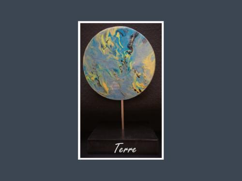 Terre - Fluid painting par Nénuph'Arts - Gironde - Art - Boutique - Sculpture